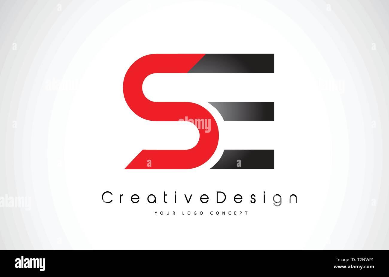 Le Rouge Et Le Noir Se S E Lettre Logo Design En Noir Couleurs Lettres Modernes De Creation Logo Icone Vecteur Illustration Image Vectorielle Stock Alamy