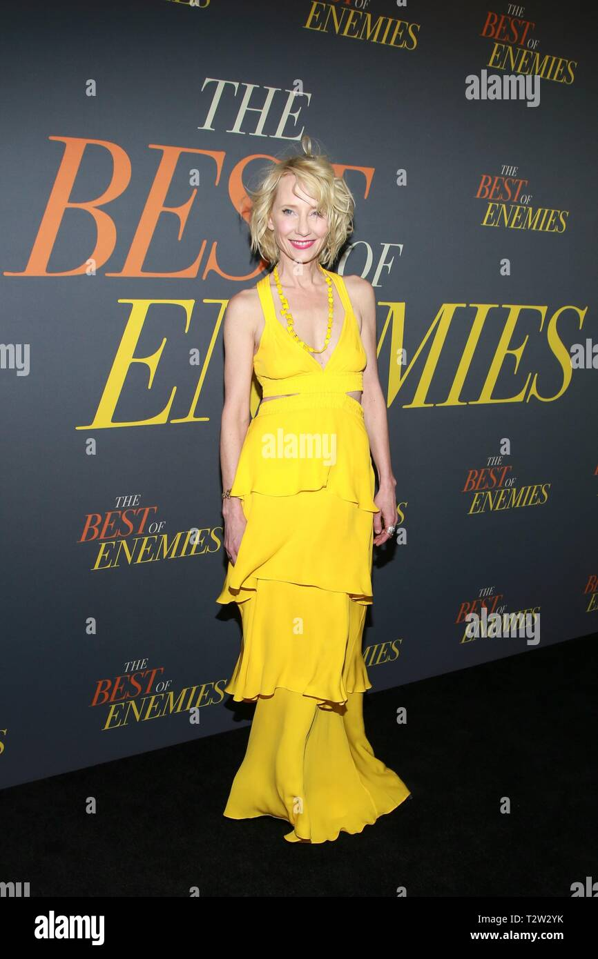 New York, NY, USA. 4ème apr 2019. Arrivées à Anne Heche POUR LE MEILLEUR D'ENNEMIS Premiere, AMC Loews Lincoln Square 13, New York, NY Avril 4, 2019. Crédit : Jason Mendez/Everett Collection/Alamy Live News Photo Stock