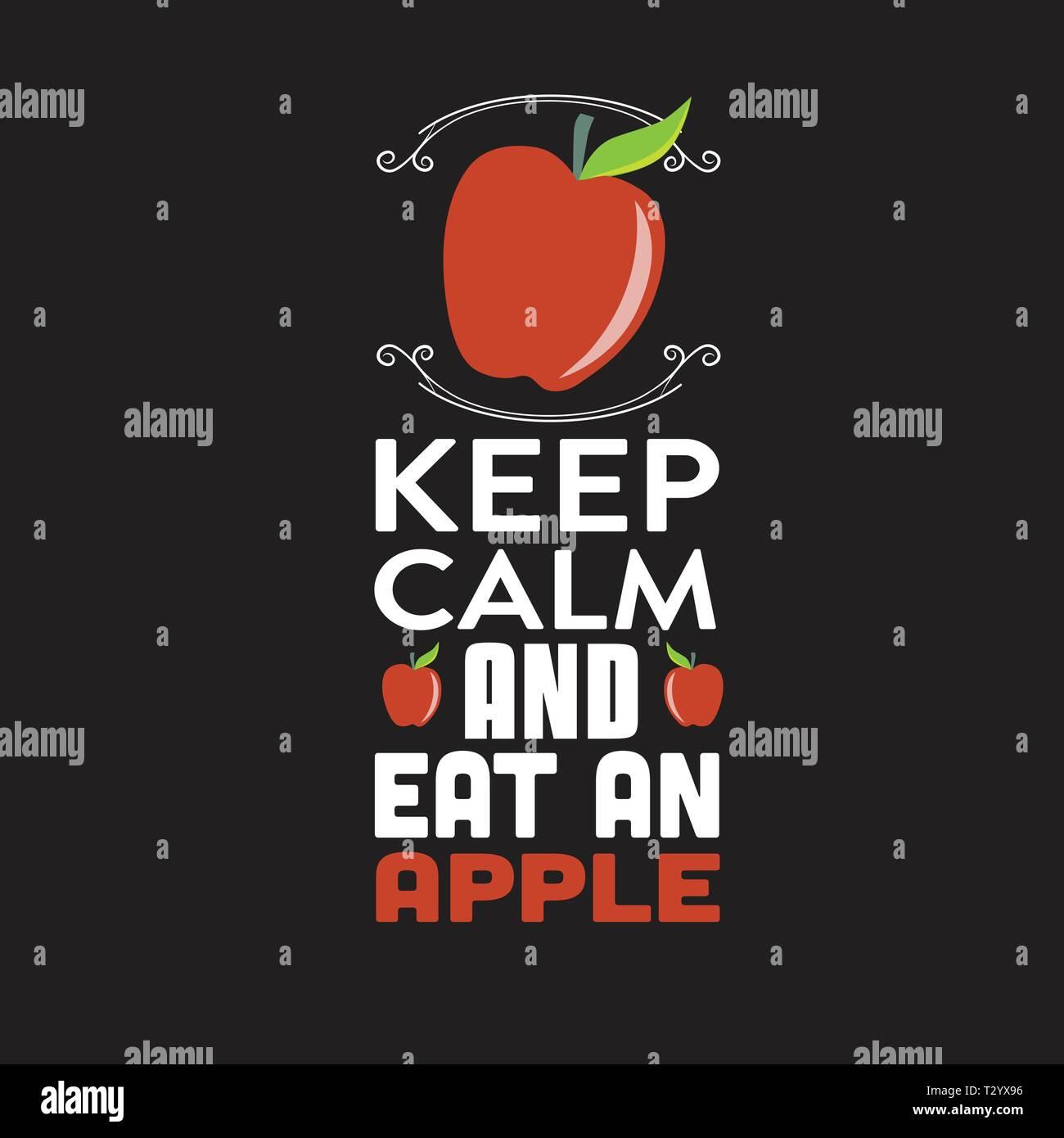 Citation Apple Et Disent Restez Calme Et Manger Une Pomme