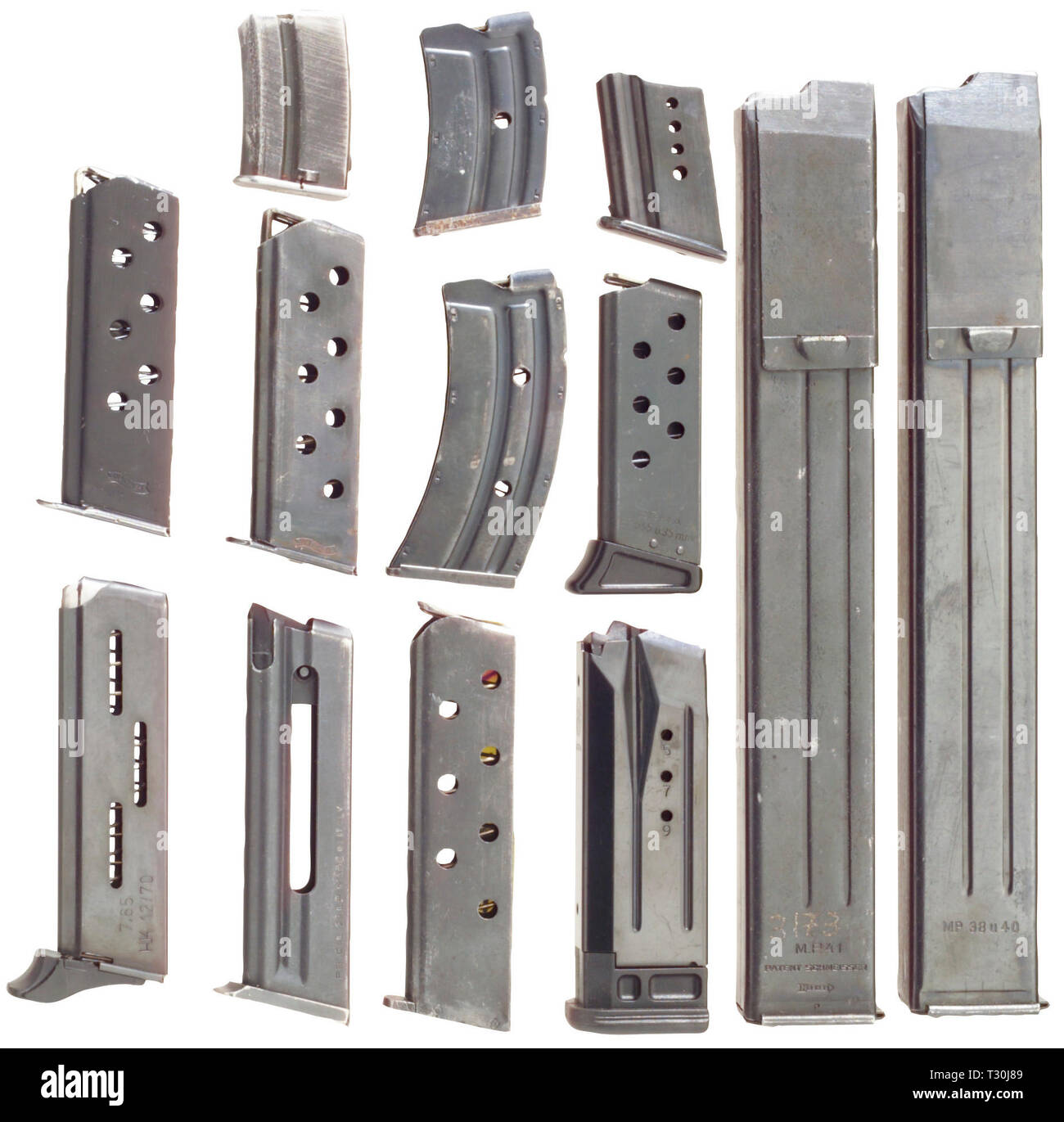 Les armes de service, de l'équipement, 13 magazines, Editorial-Use-seulement Photo Stock