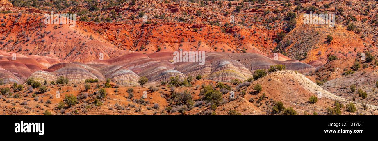 Canyon Coloré de sud-ouest de l'Arizona et l'Utah USA Banque D'Images