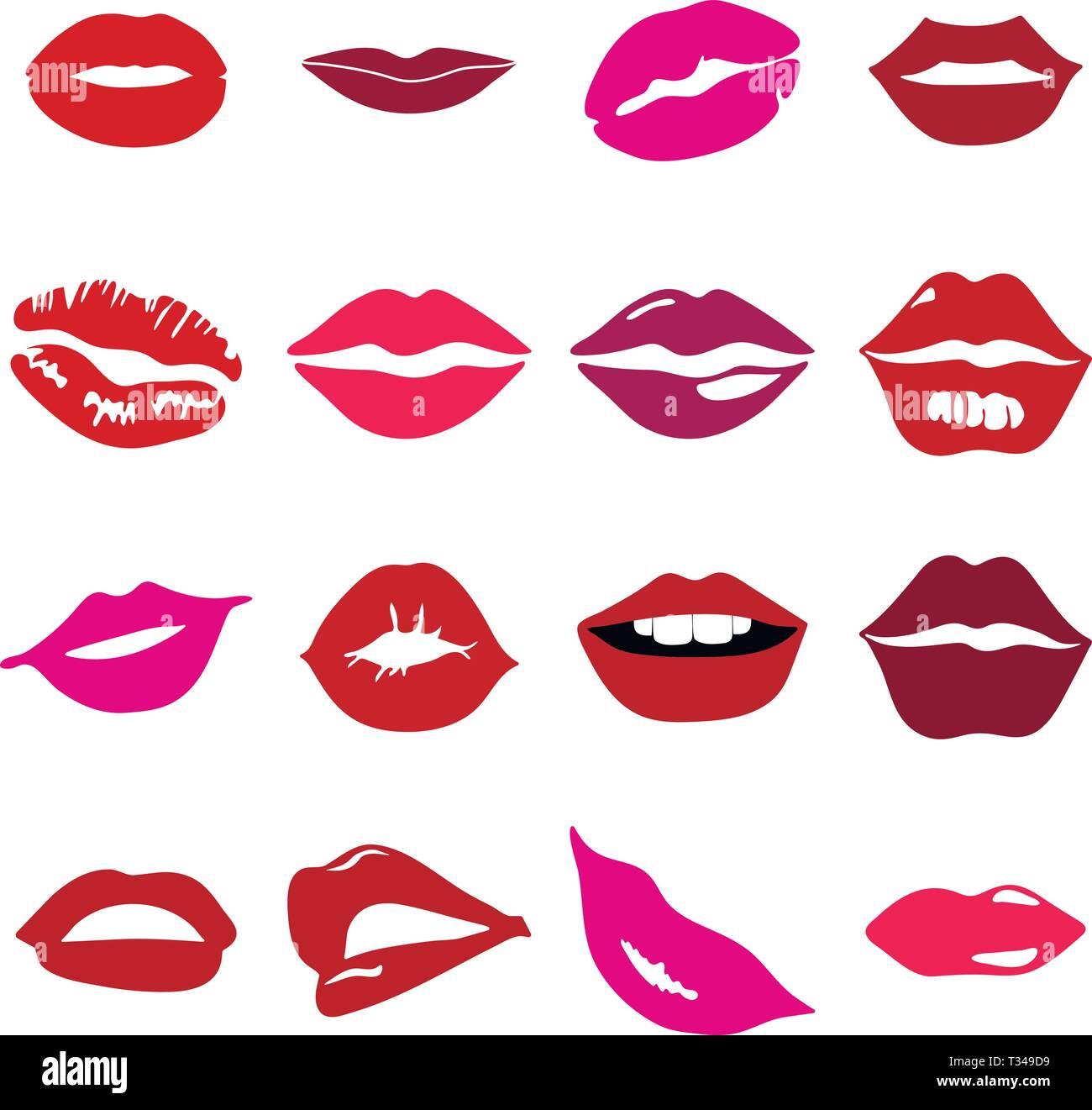 Lèvres couleur d'ossature Photo Stock