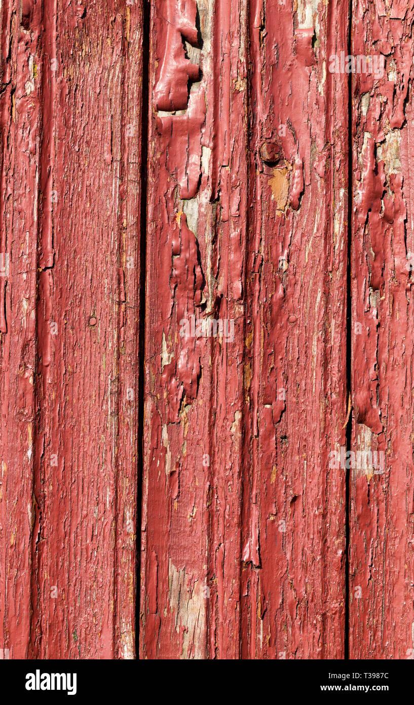 Partie De L Ancien Mur Peint De La Maison En Bois Sur