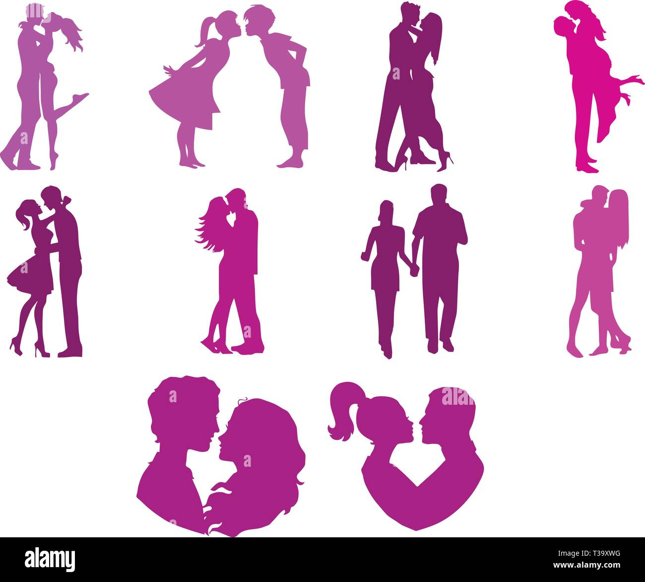 Valentine's Day Love Couple Collection Photo Stock