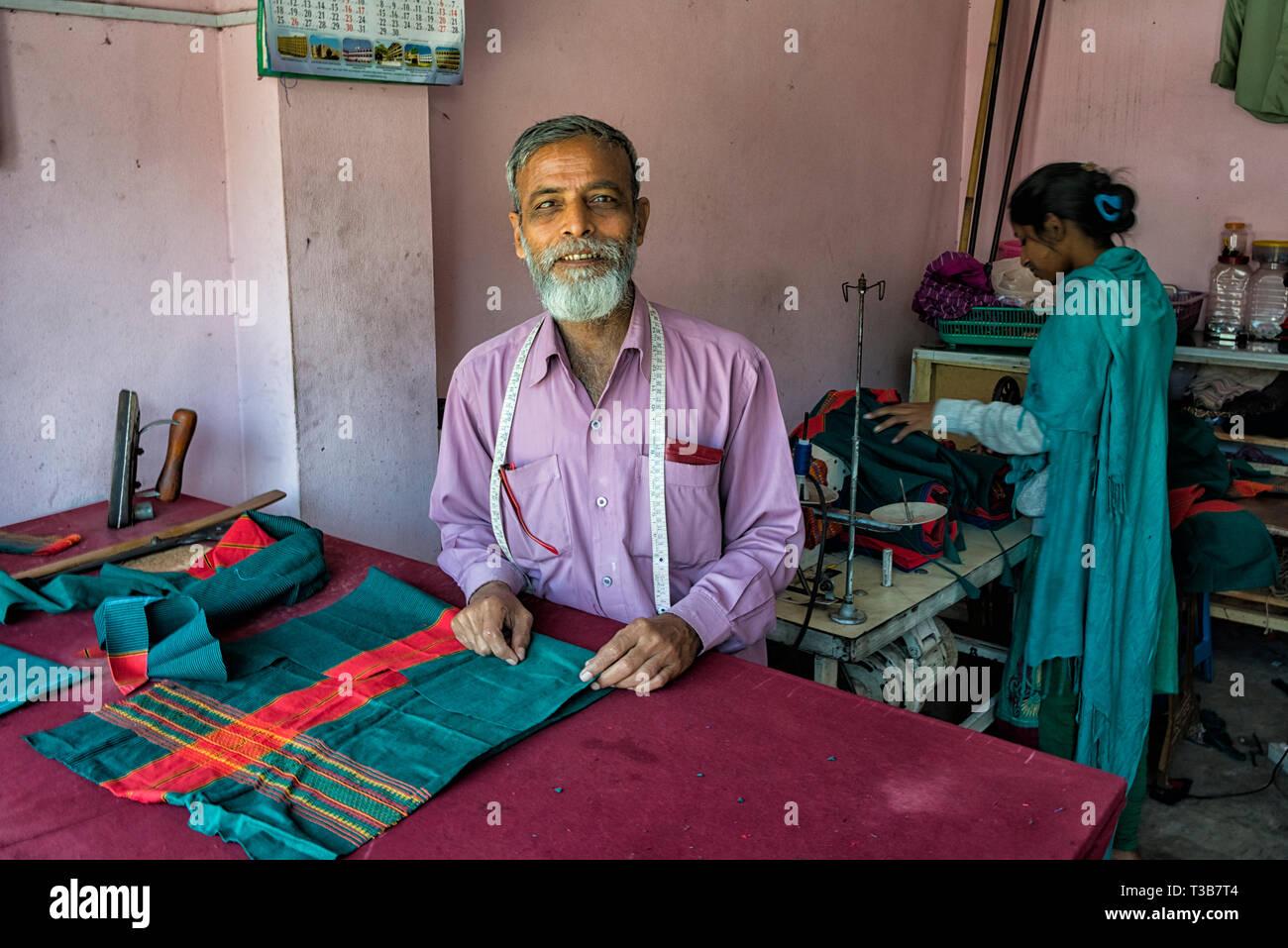Boutique de tailleur, Rangamati, la division de Chittagong, Bangladesh Banque D'Images
