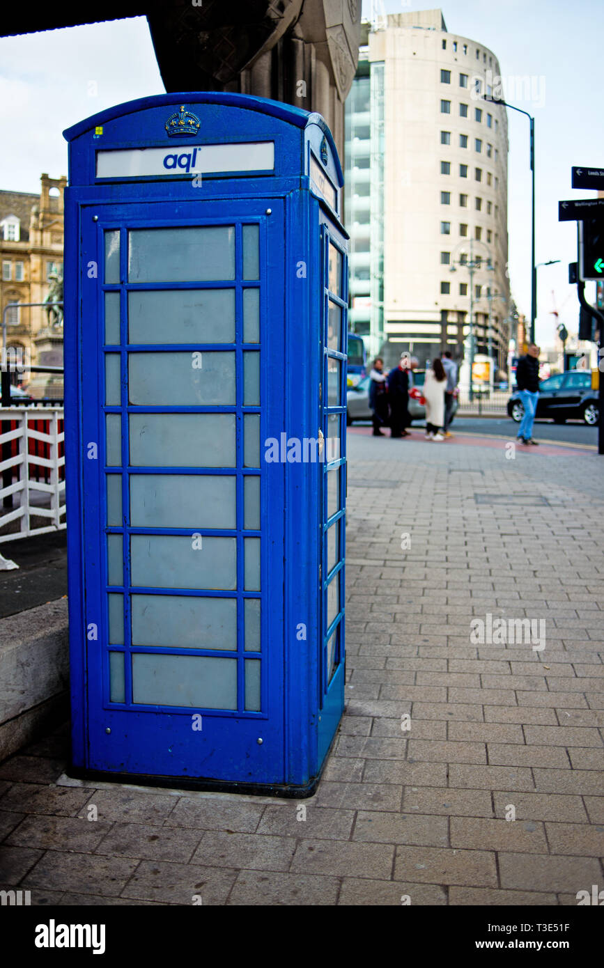 Panneau solaire convertie Wifi téléphone, Leeds, Angleterre Photo Stock