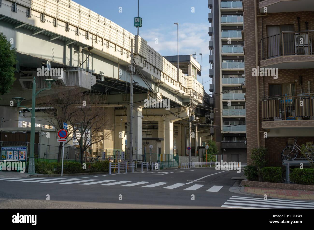 J'ai aimé explorer les zones moins touristiques de Asakusa pour attraper un aperçu de la vie quotidienne et moins exploré et photographié les pièces d'Asakusa à Tokyo. Photo Stock