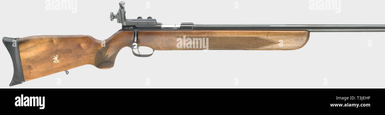 Les bras longs, les systèmes modernes, Walther Ulm sports fusil, calibre 22 lr, numéro 001078, Additional-Rights Clearance-Info-Not-Available- Photo Stock