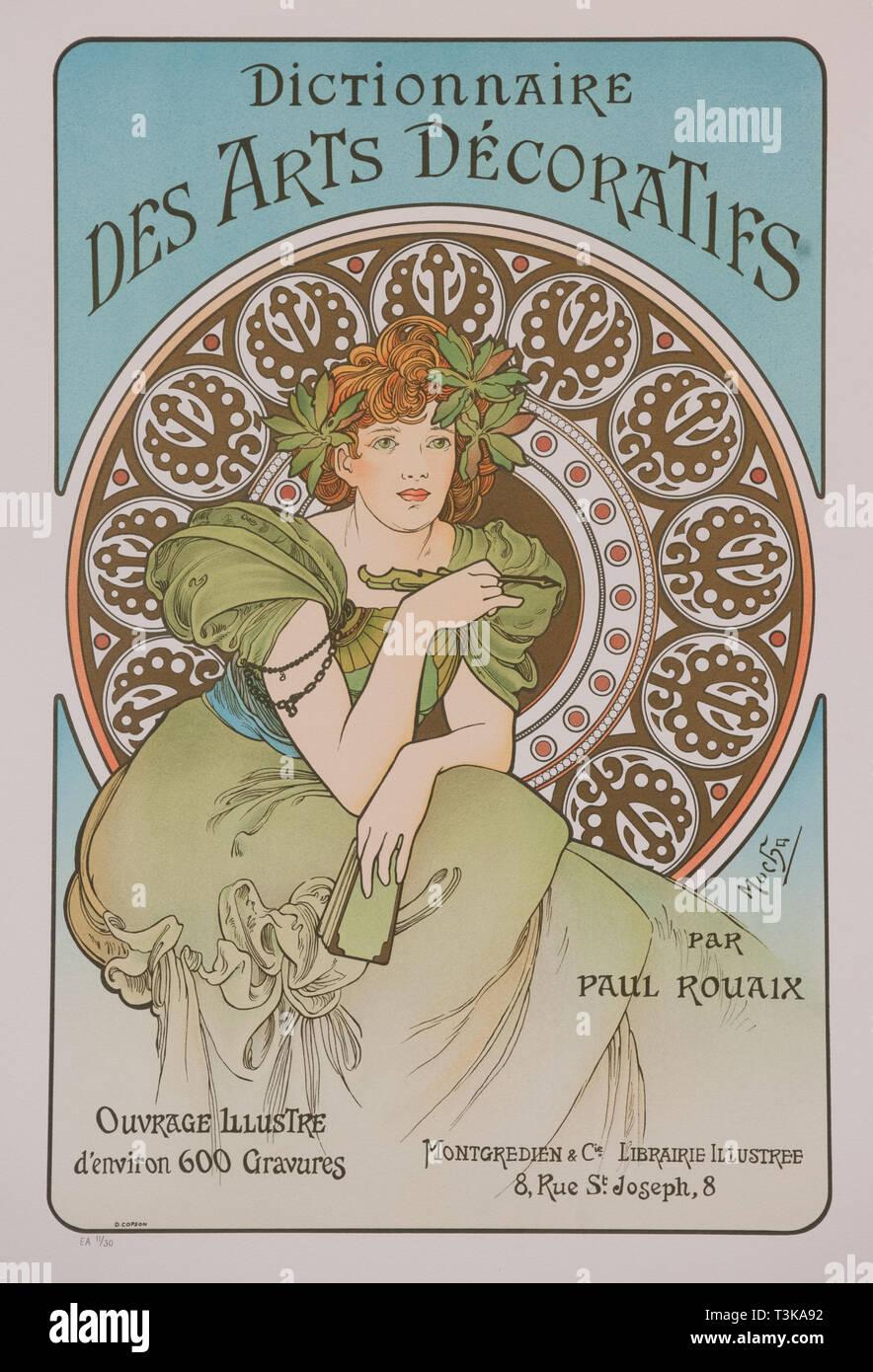 Dictionnaire des Arts Décoratifs, 1902. Créateur: Alfons Mucha, Marie (1860-1939). Banque D'Images