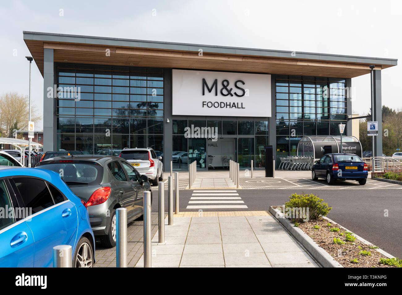 M&S Foodhall, comté, berceau Pont, Trowbridge Photo Stock
