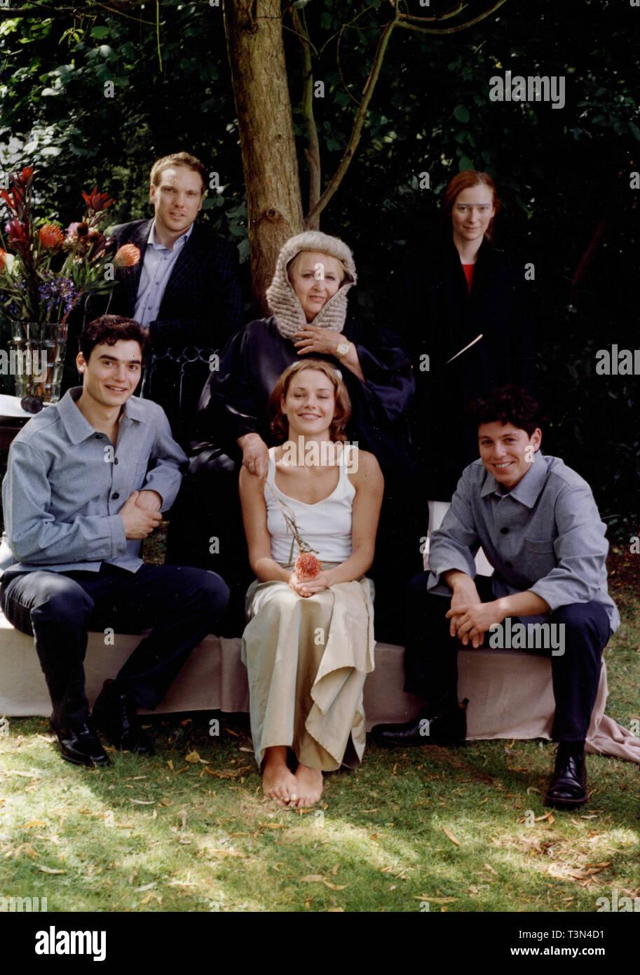 T. acteurs Swinton, F. Sacchi, A., & Tierman C. Gioè, P. Briguglia, L. Betti dans le film le protagoniste, années 90 Photo Stock
