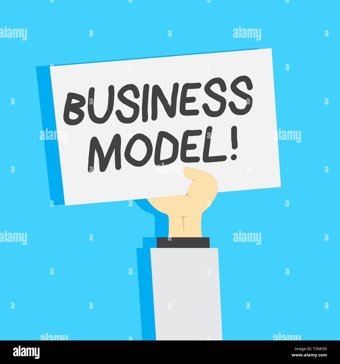 Texte de l'écriture l'écriture Modèle d'affaires. Photo plan conceptuel pour la réussite de l'opération d'identification des entreprises de clipart de recettes jusqu'Bla Photo Stock