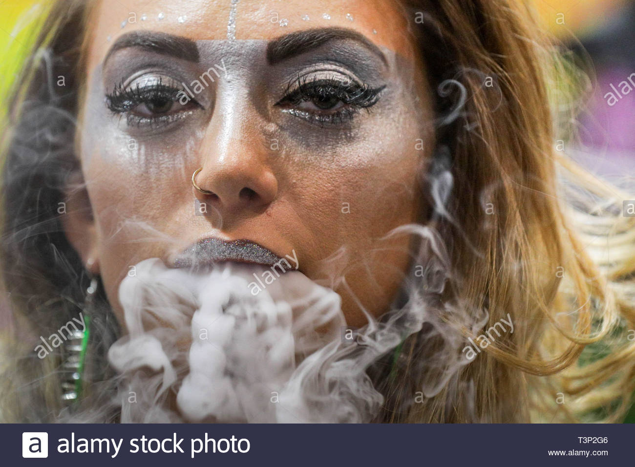 Londres, Royaume-Uni. Apr 11, 2019. Vape Jam UK voit des centaines de seine passionnés et cigarette électronique les entreprises Participation à la cinquième convention à Excel London. Crédit : Guy Josse/Alamy Live News Photo Stock