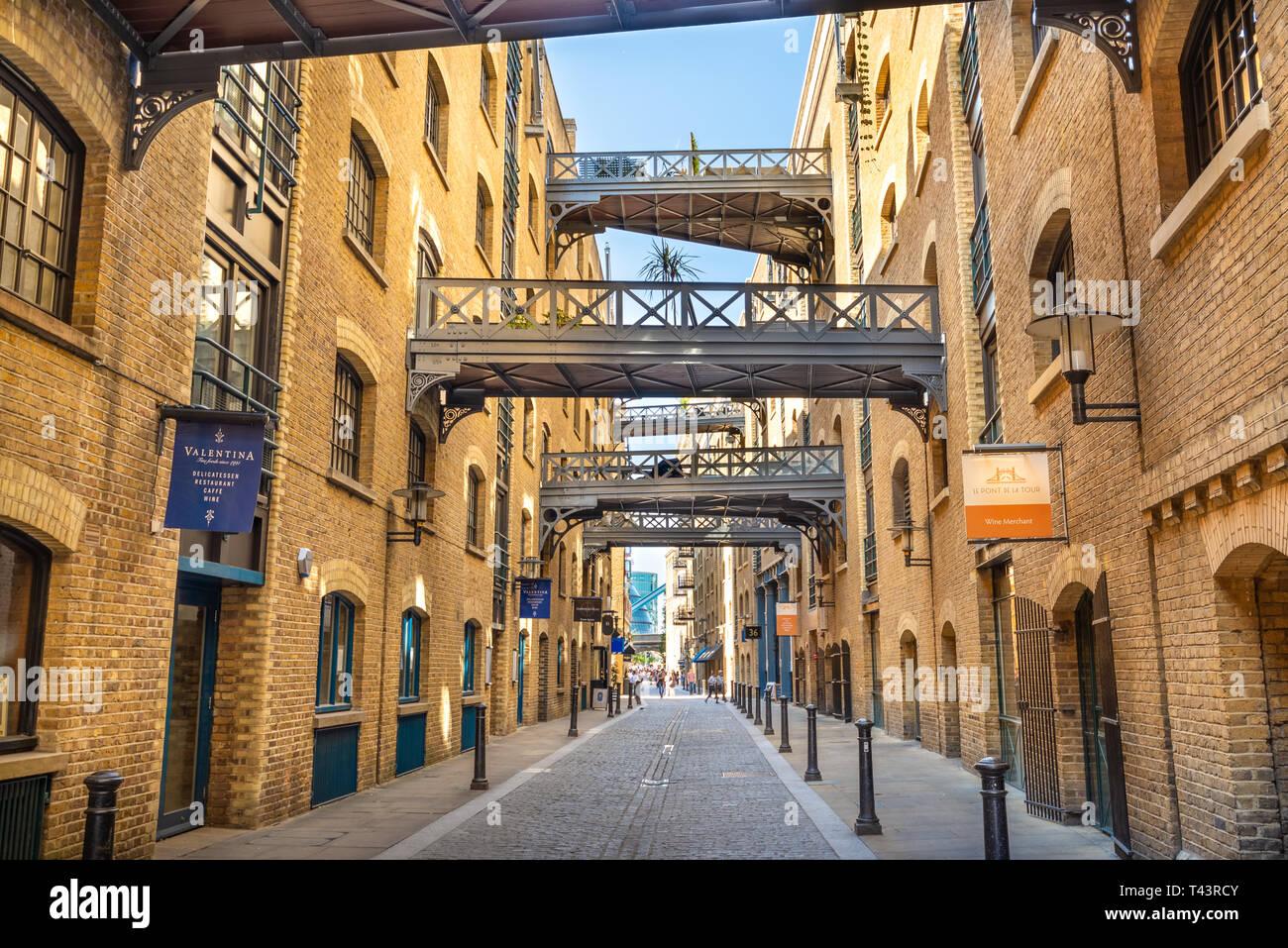 Entrepôt de Shad Thames, London, England, UK Photo Stock