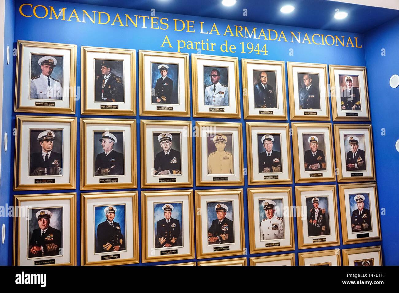 La vieille ville fortifiée de Cartagena Colombie centre centre Centro Museo Naval del Caribe musée naval des Caraïbes photographies portraits d'exposition de la marine colombienne Com Photo Stock