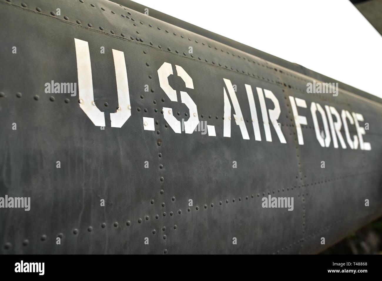 B-52 de l'épave de l'avion de temps de guerre vietnamiens à Hanoi museum Banque D'Images