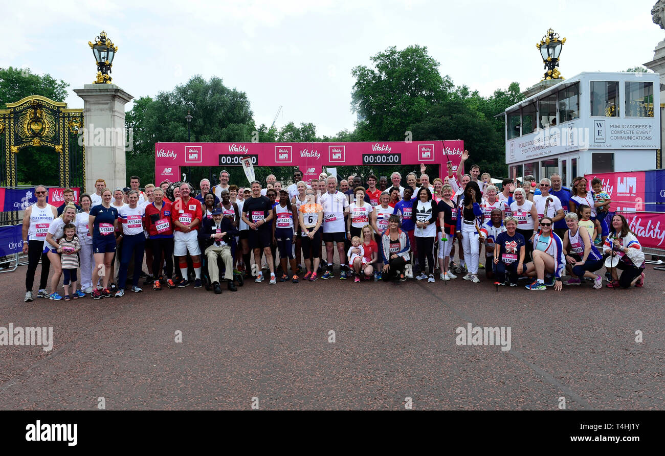 London, UK, 27mars 2018,Vitalité Westminster Mile (Olympiens prendre part à l'Olympiens Mile, Crédit : Van Quan /Alamy Photo Stock