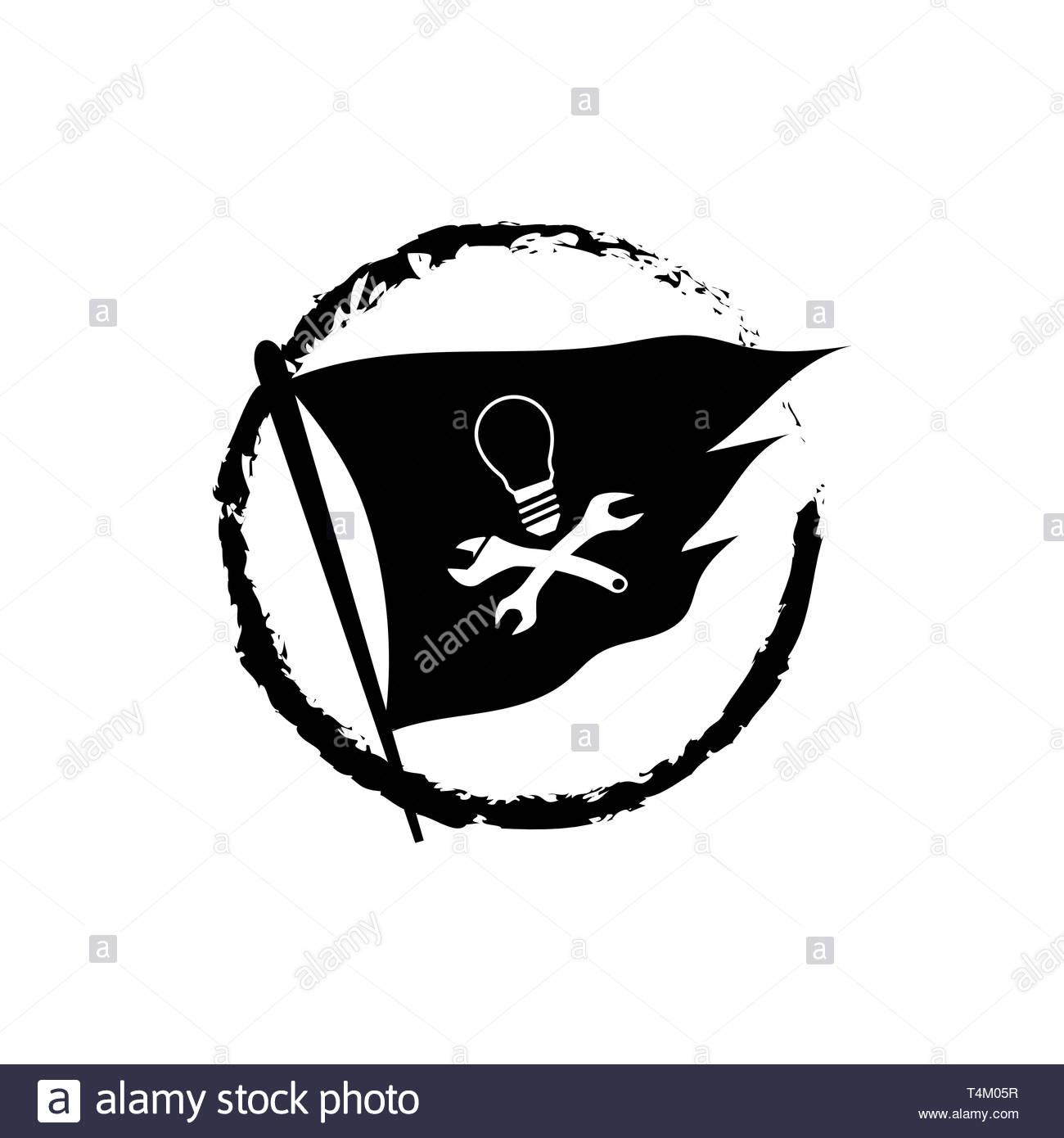 Drapeau Pirate Illustration Vectorielle De L Ampoule Du