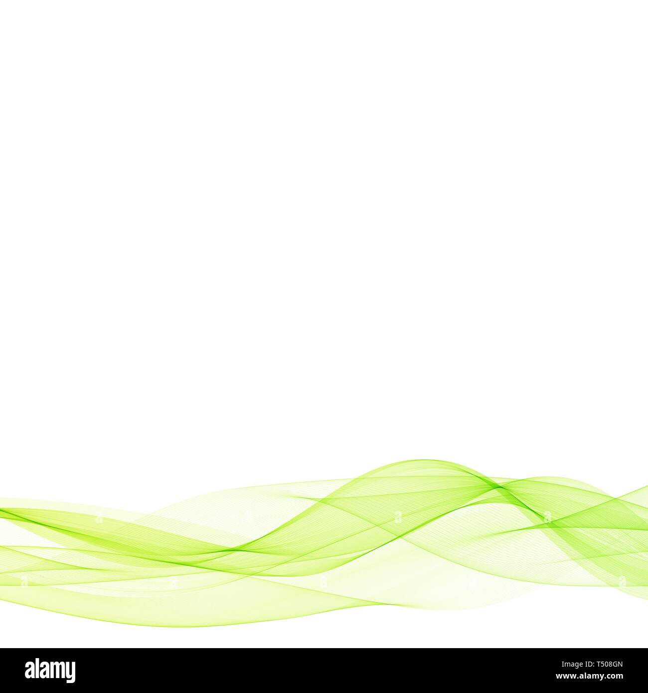 Vector abstract green waves eps 10 Photo Stock