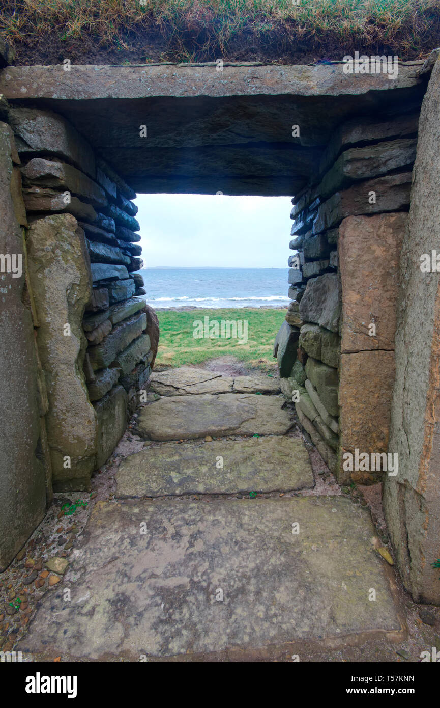Knap de Howar maison néolithique, Papa Westray Photo Stock