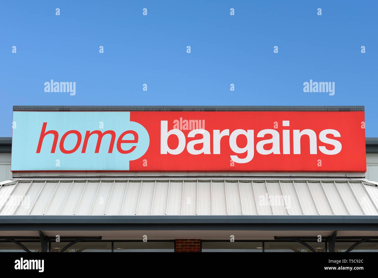 Accueil Bonnes Affaires Store, UK Photo Stock