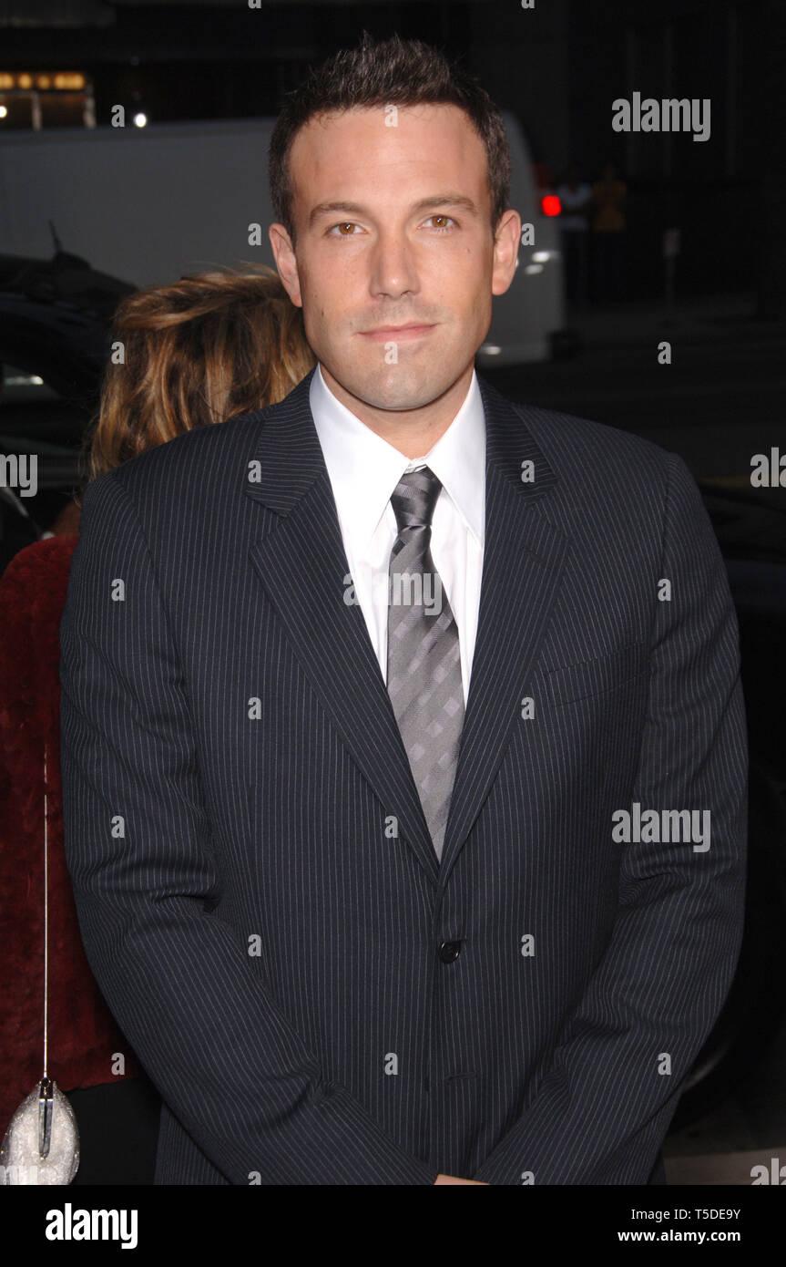 """LOS ANGELES, CA. 07 septembre 2006: l'Acteur Ben Affleck au Los Angeles première de son nouveau film """"Hollywoodland"""". © 2006 Paul Smith / Featureflash Photo Stock"""