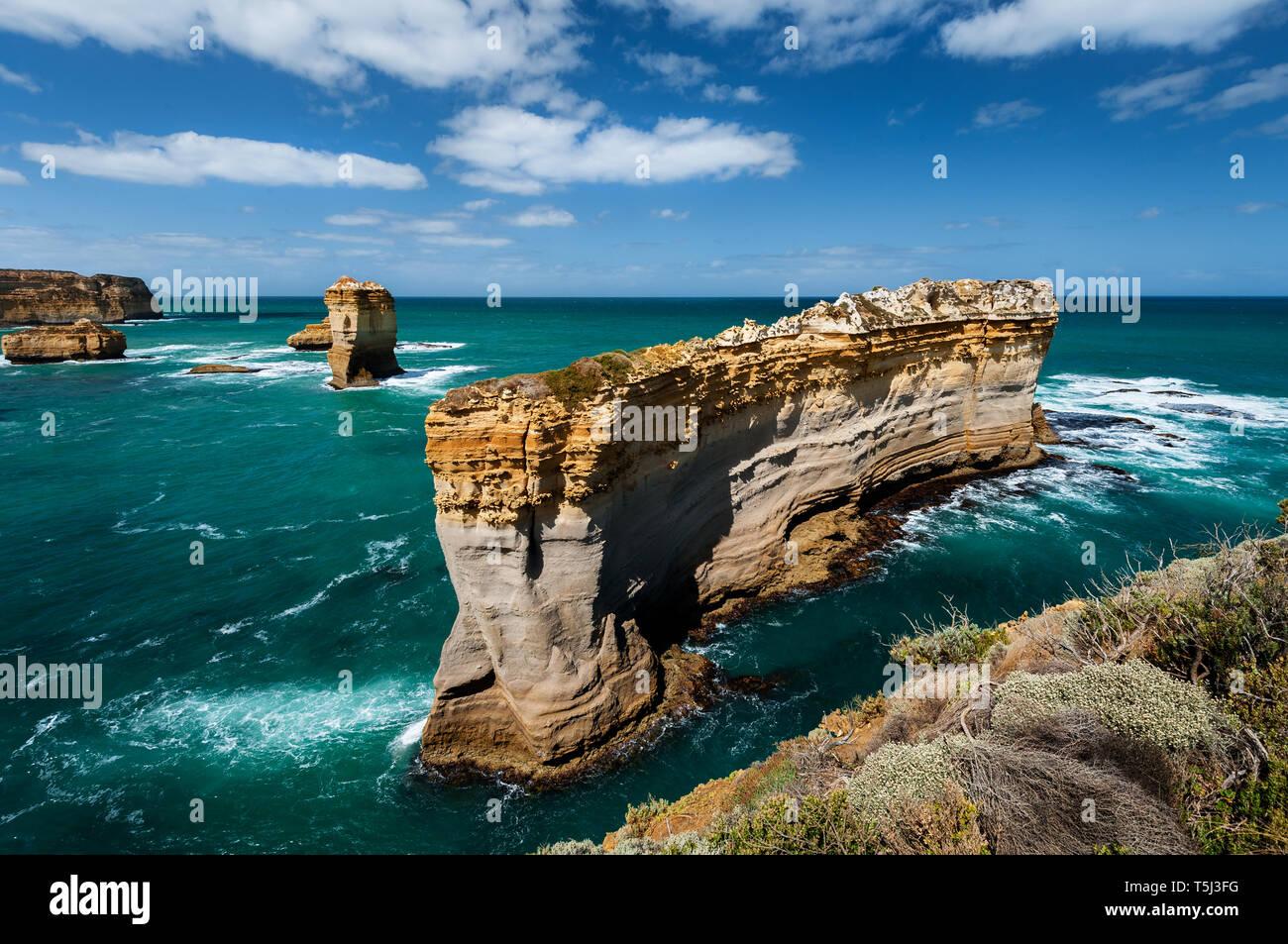 Le Razorback est une des nombreuses fonctionnalités à Port Campbell National Park. Photo Stock