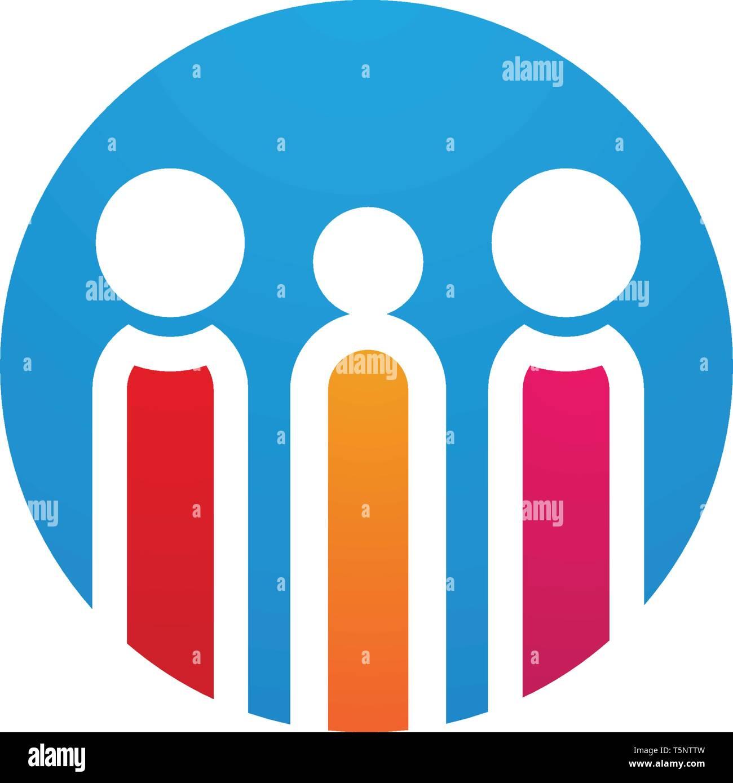 L'adoption et de soins communautaires modèle Logo Icône vecteur Photo Stock
