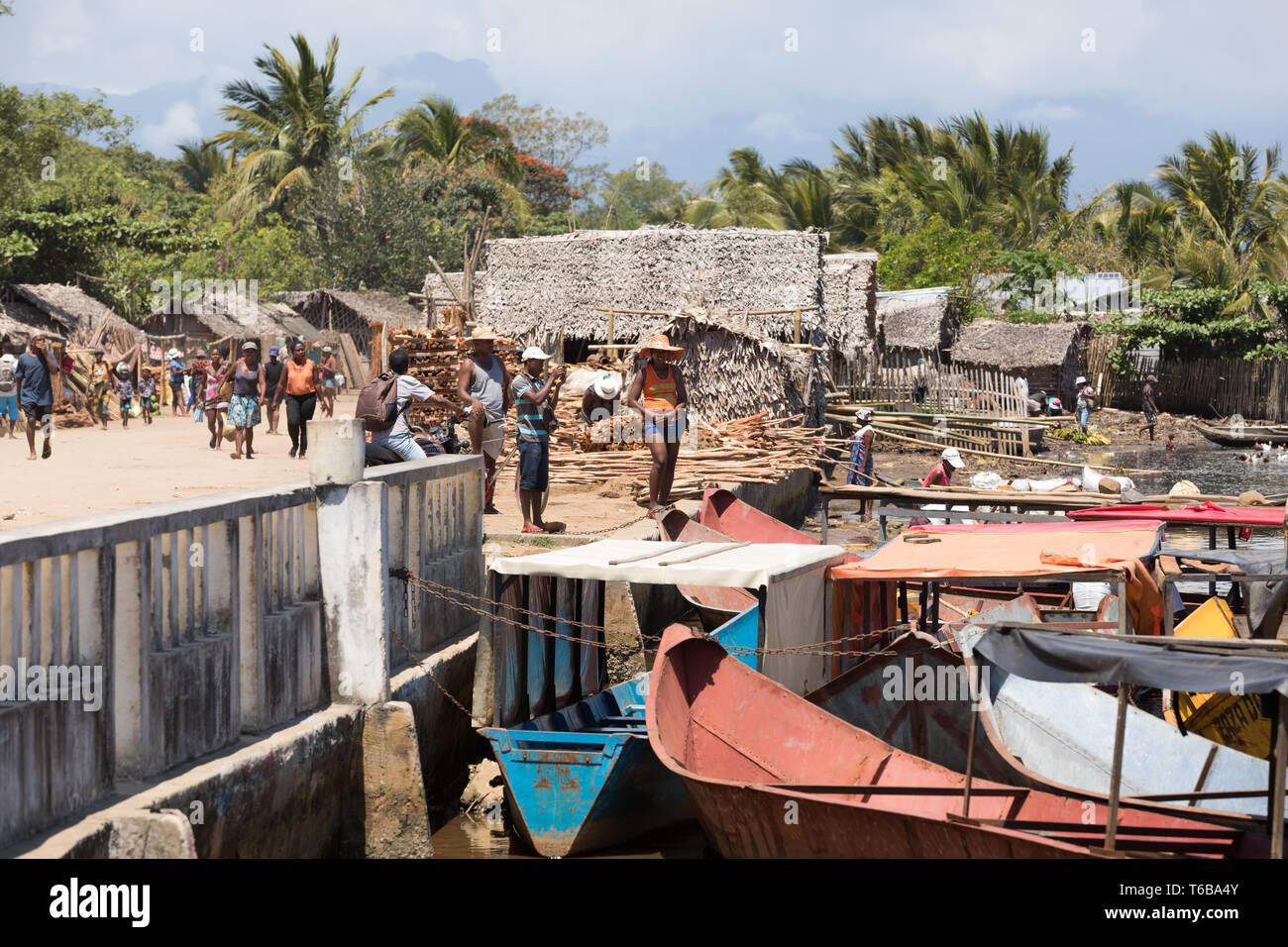 La vie quotidienne des peuples malgaches à Madagascar Photo Stock