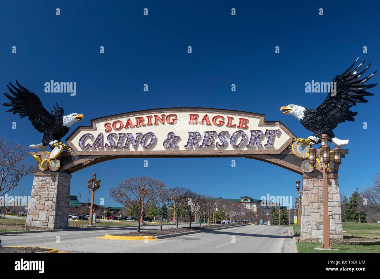 Mt. Agréable, Michigan - Le Soaring Eagle Casino and Resort, exploité par la tribu indienne Saginaw Chippewa du Michigan. Photo Stock
