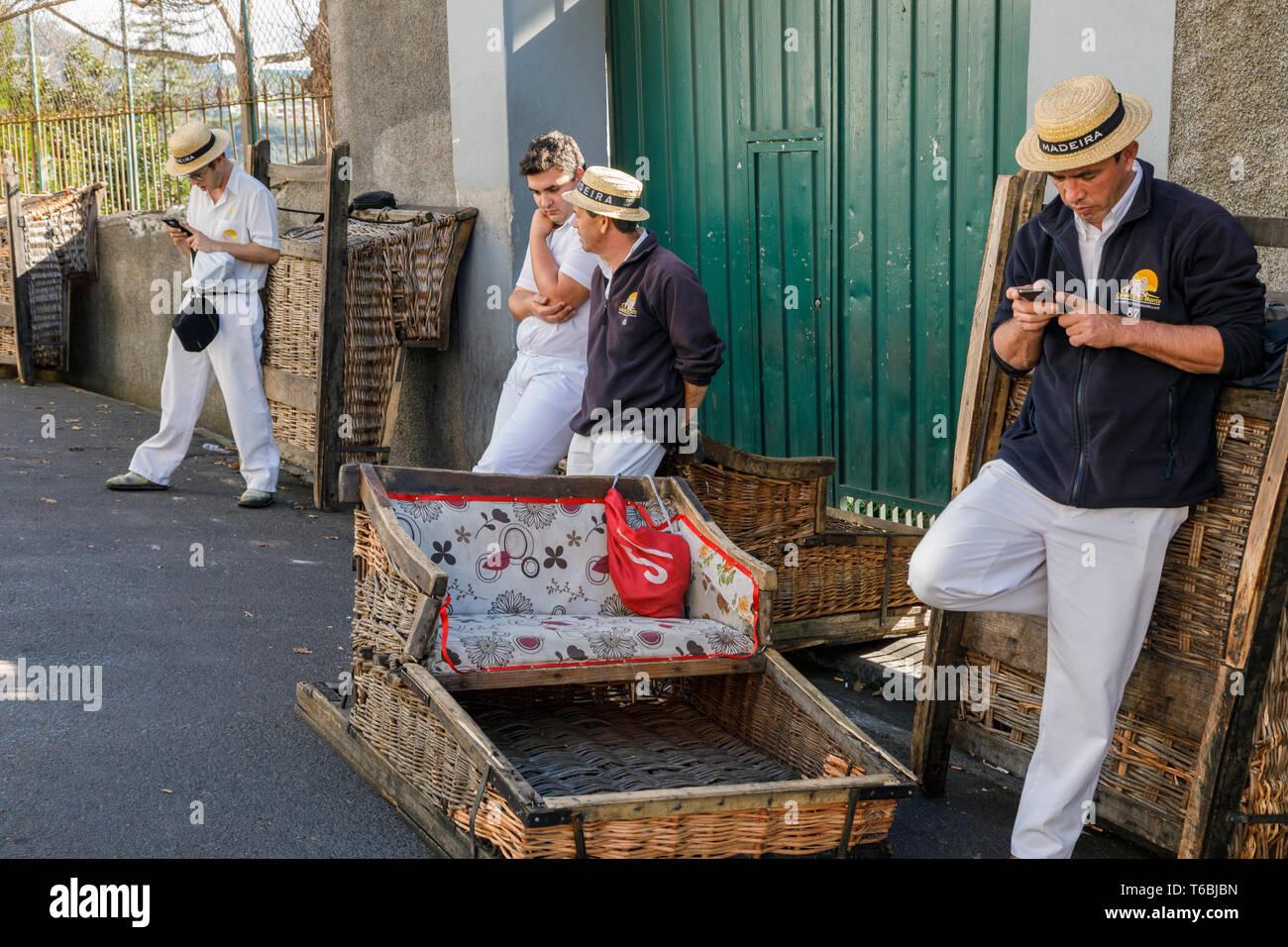 Pour les clients en attente Carreiros, Monte, Funchal, Madère Banque D'Images