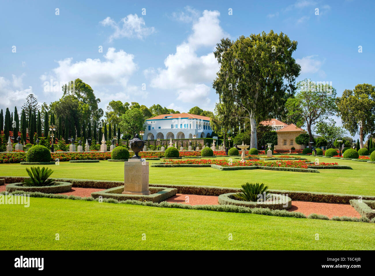 Israël, quartier Nord, Galilée, Acre (Akko). Sanctuaire de Baha'u'llah à jardins Baha'Akko, lieu le plus saint pour les gens de foi Baha'i. Photo Stock
