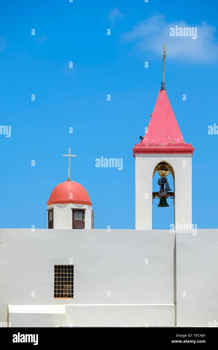 Israël, quartier Nord, Galilée, Acre (Akko). Eglise Saint-Jean-Baptiste dans la vieille ville. Photo Stock