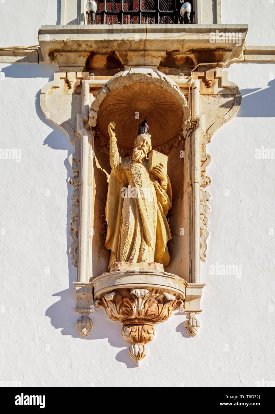 Eglise do Carmo, affichage détaillé, Largo do Carmo, Faro, Algarve, Portugal Banque D'Images