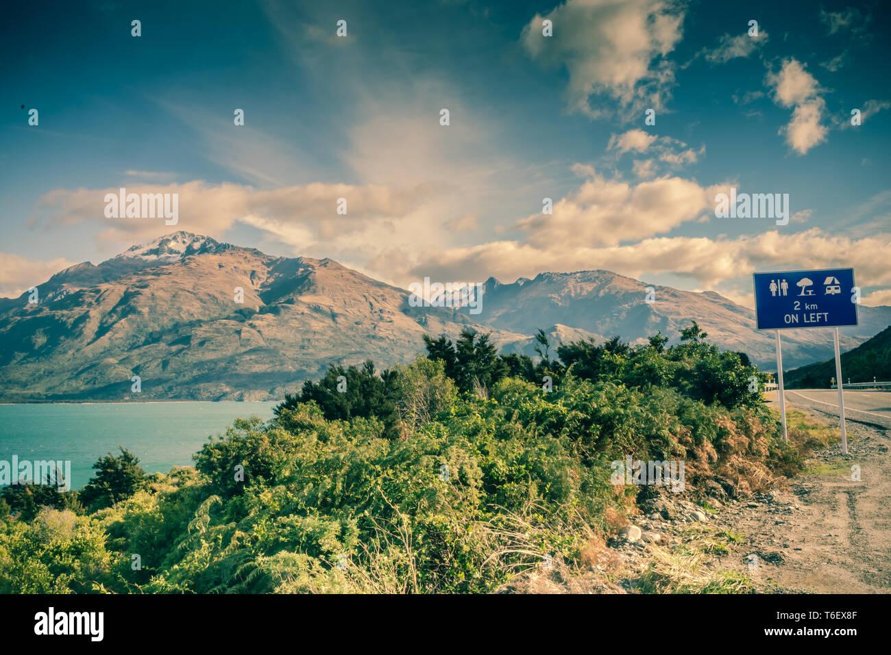 Lake Wanaka, île du Sud, Nouvelle-Zélande Banque D'Images