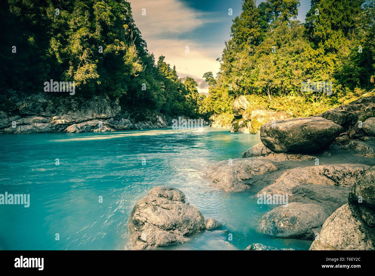 Hikotika Gorge, île du Sud, Nouvelle-Zélande Banque D'Images