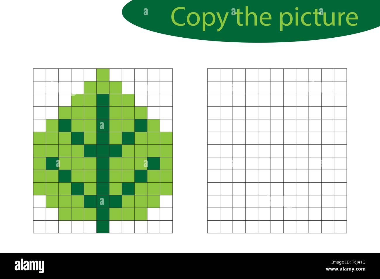 Copier La Photo Pixel Art Feuille De Dessin Caricature De