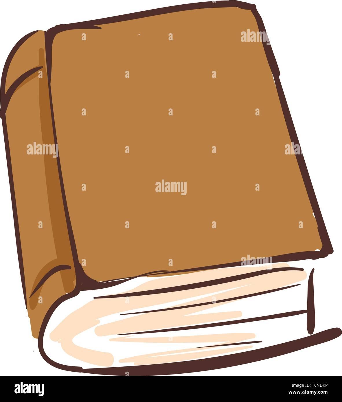 Dessin D Un Livre Brun Compose De Pages Cousues Le Long D Un