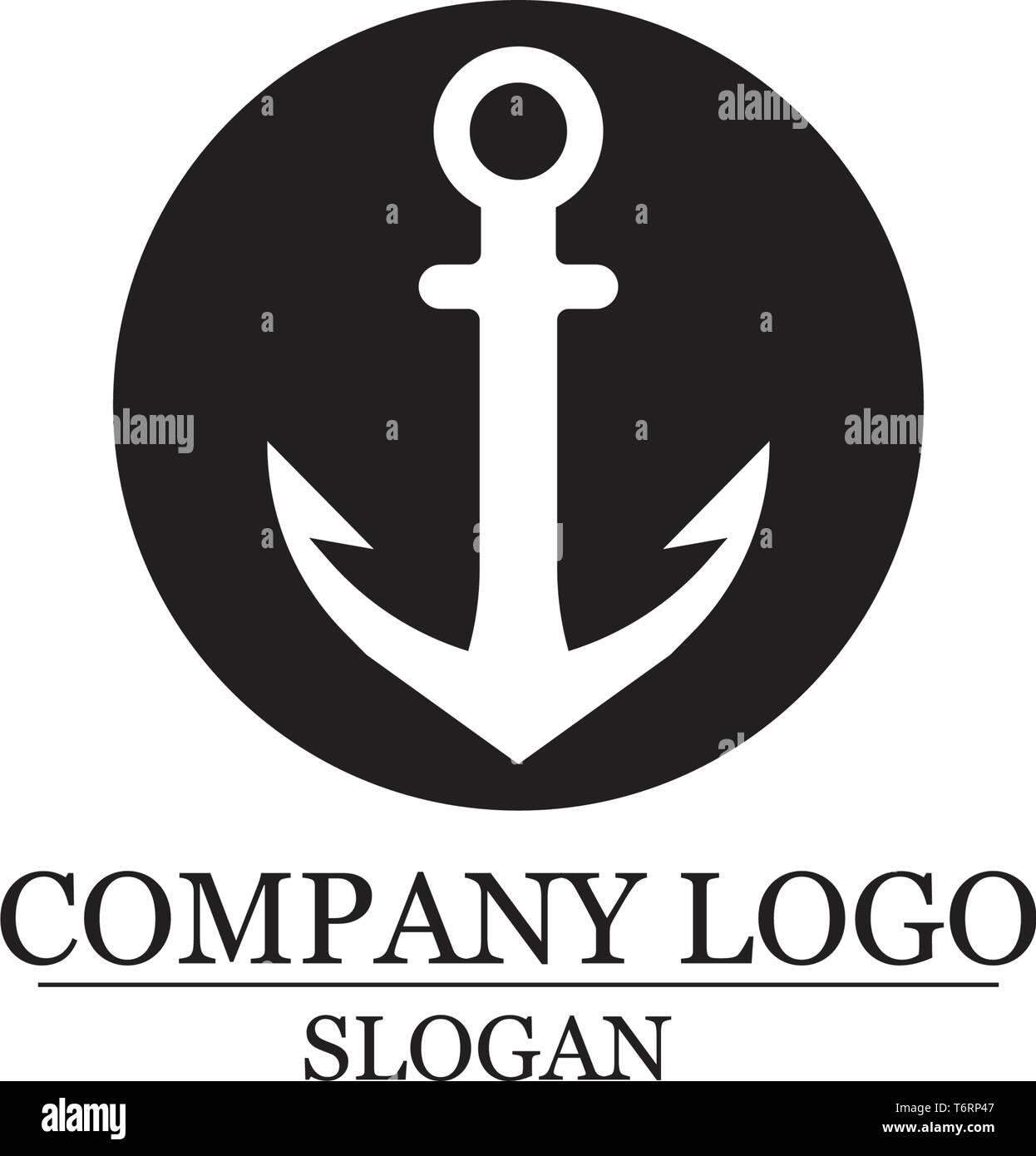 Logo symbole d'ancrage et modèle vector icons app Illustration de Vecteur