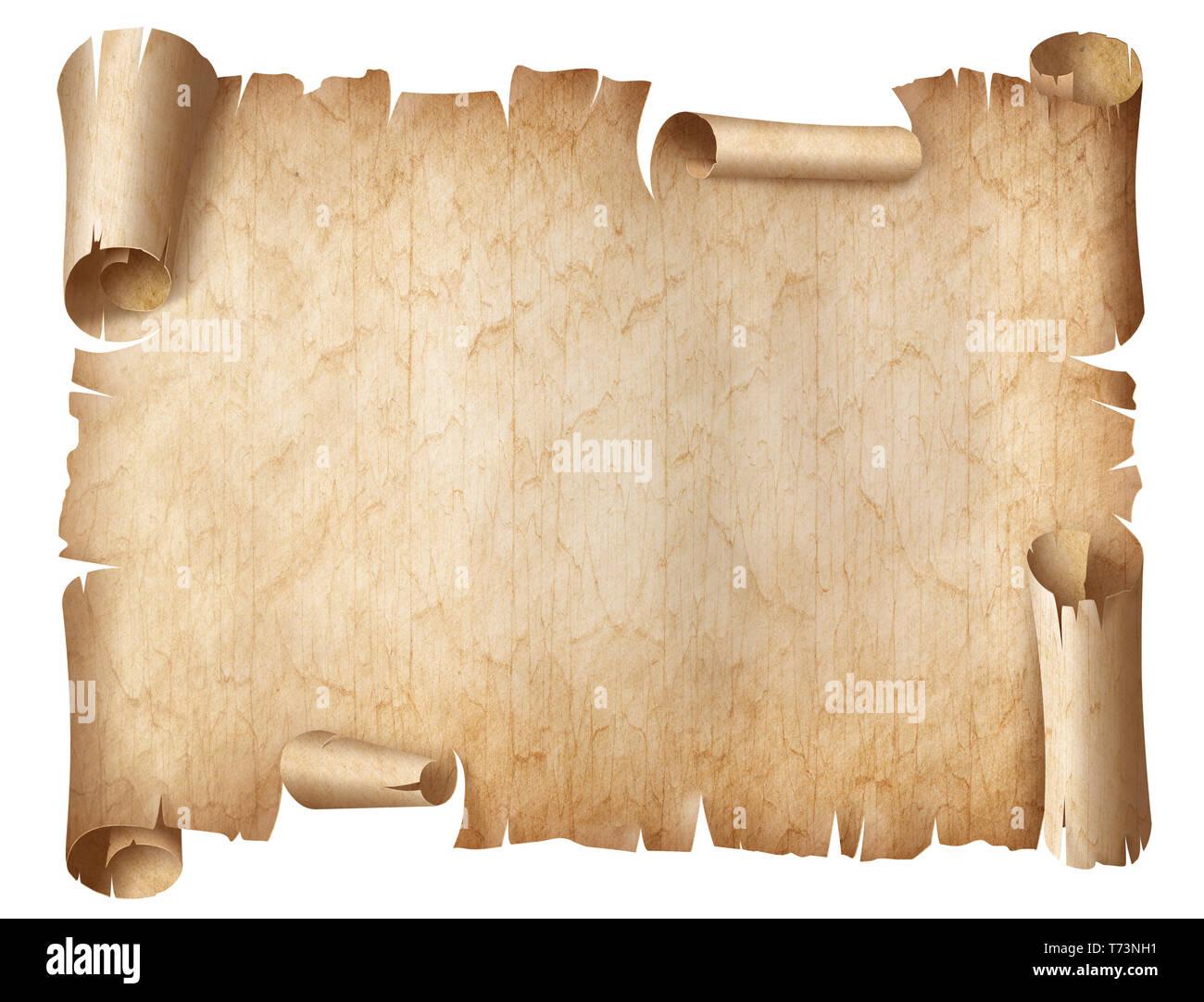 Ancien Parchemin Use Ou Ancien Document Isole Photo Stock Alamy
