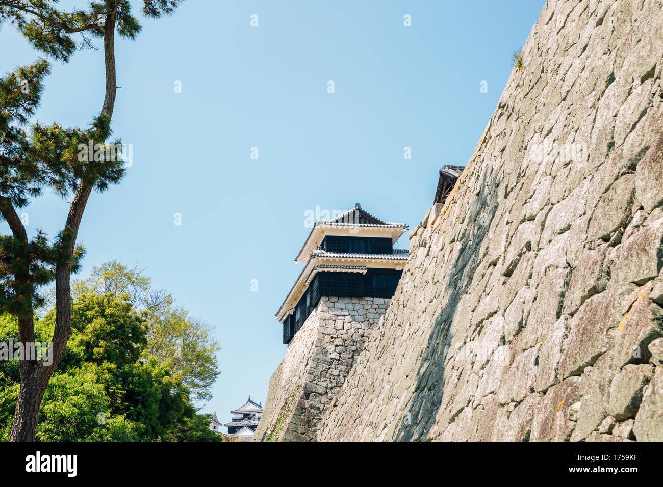 Matsuyama Castle fortress à Matsuyama, Shikoku, Japon Photo Stock