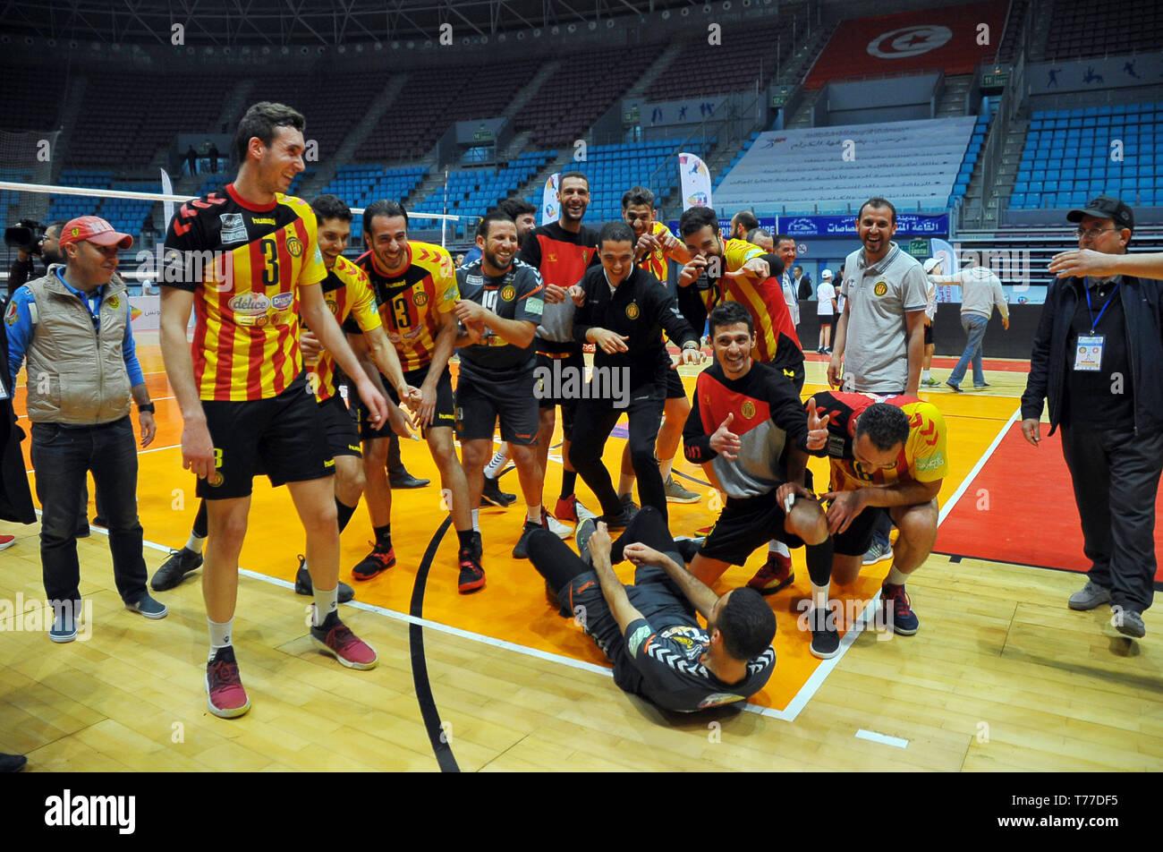 Rades Tunisie 4 Mai 2019 L Equipe De L Esperance Sportive De