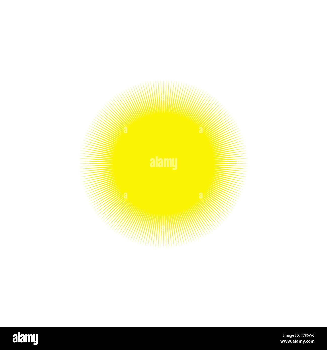 Ensemble de soleil jaune d'icônes. Vector Illustration Illustration de Vecteur