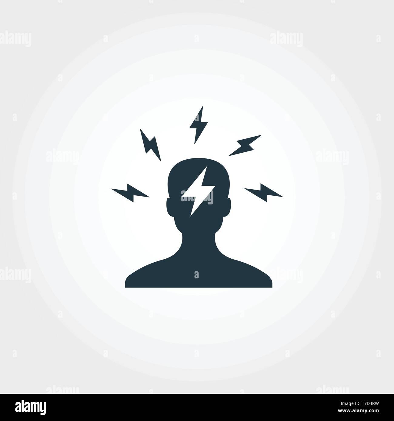 L'icône de remue-méninges. Design Premium Monochome symbole de collection. UX et l'assurance-chômage pictogramme simple icône remue-méninges Illustration de Vecteur