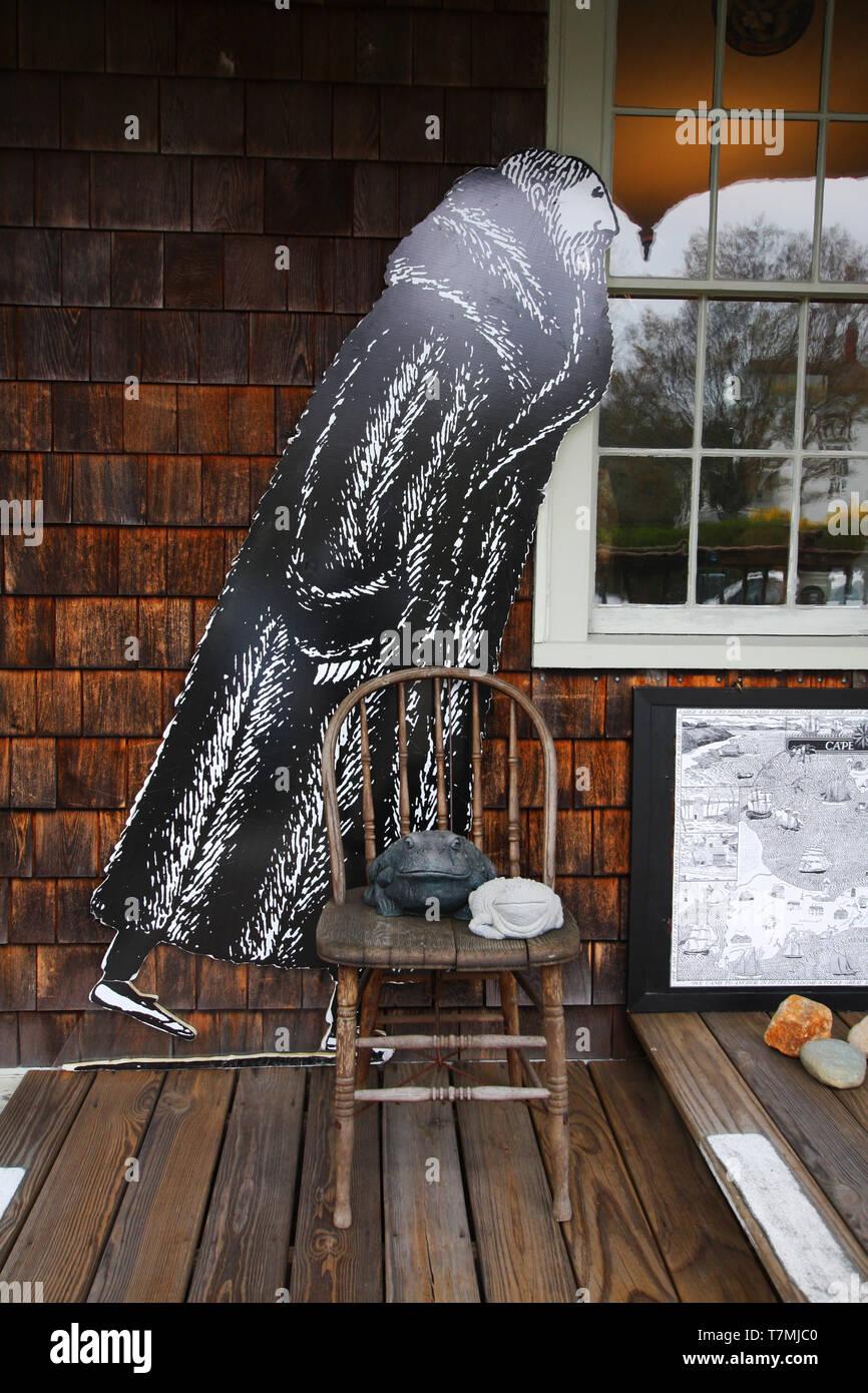 USA, Massachusetts, Cape Cod, New England, Yarmouth, Yarmouthporet, Edward Gorey House, musée, art, littérature, Photo Stock