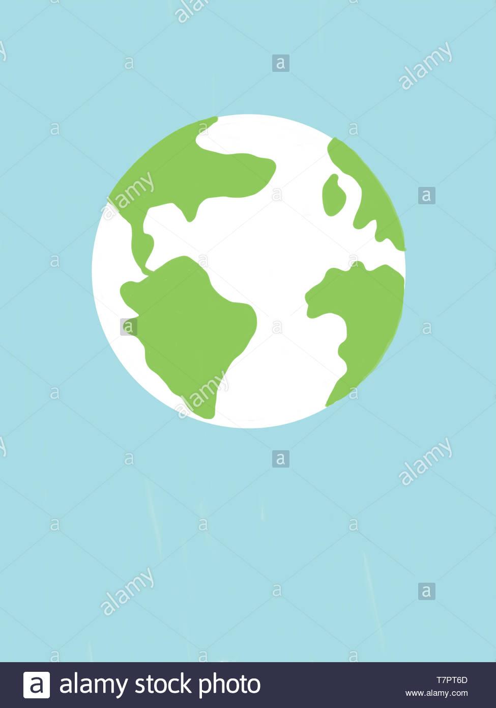 La Planète Terre Dessin Numérique Banque D Images Photo
