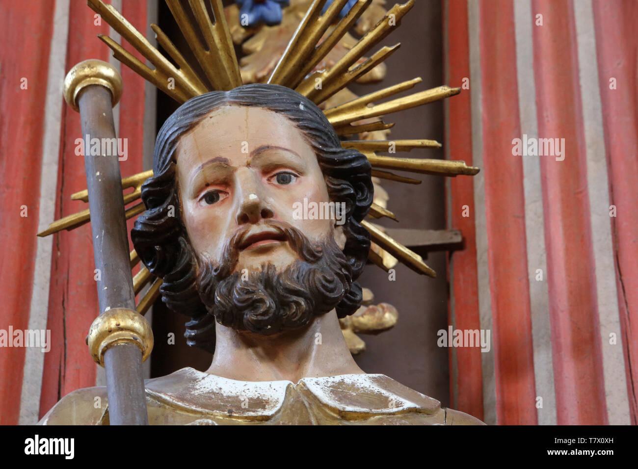 Saint-Roch. Eglise Saint-Nicolas de Véroce. Saint-Nicolas de Véroce. Photo Stock