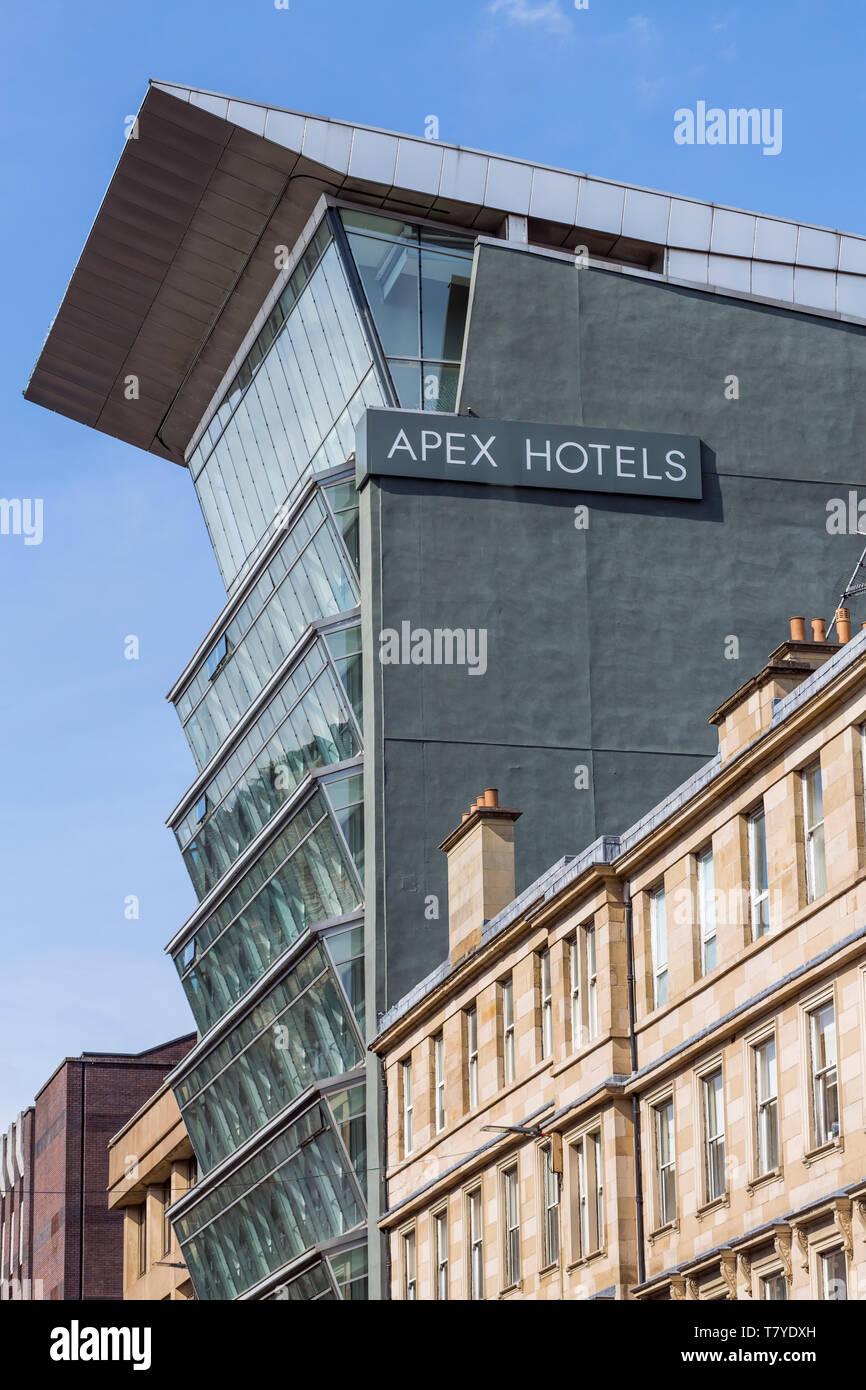Détail de l'Apex City of Glasgow bâtiment de l'hôtel dans le centre-ville de Glasgow, Écosse, Royaume-Uni Banque D'Images