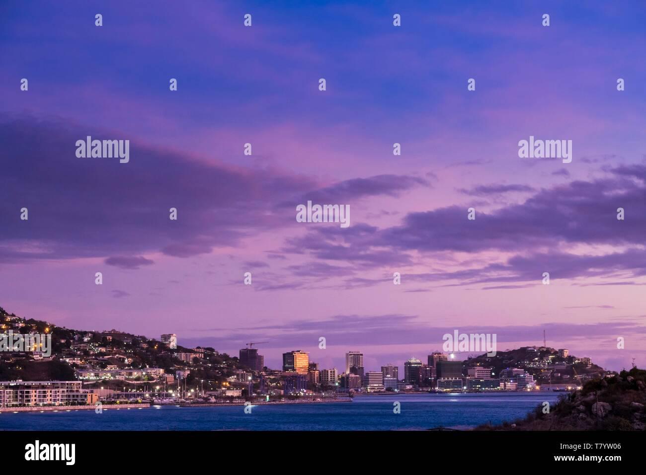 La Papouasie-Nouvelle-Guinée, District de la capitale nationale, Port Moresby, ville de Port Moresby Photo Stock