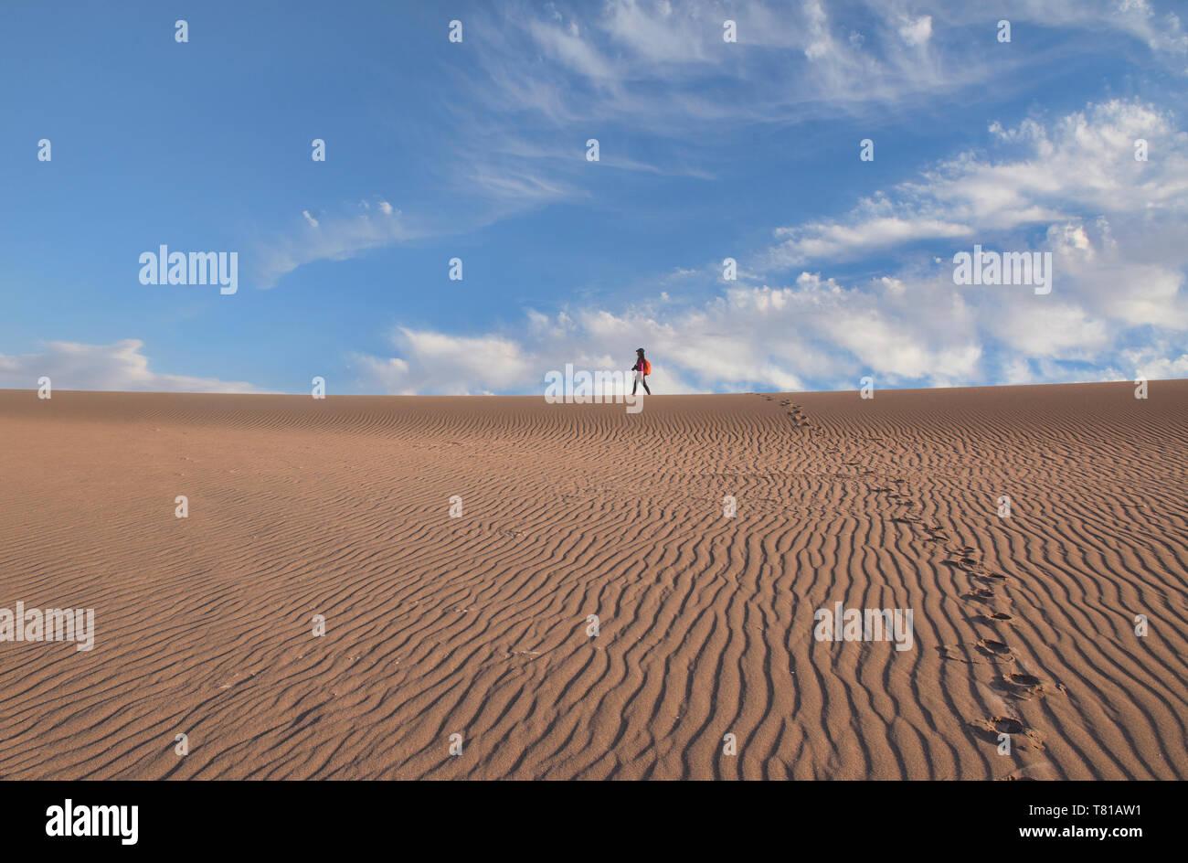 Paysage désertique de la vallée de la Lune, San Pedro de Atacama, Chili Banque D'Images